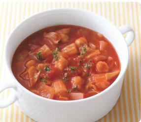 ひよこ豆トマトスープ