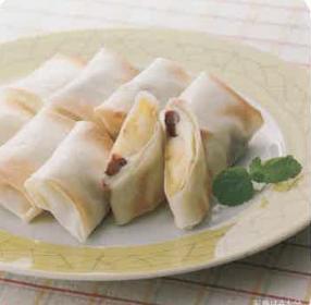 バナナと小豆のクリーム春巻