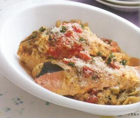 鮭のトマト煮カレー風味