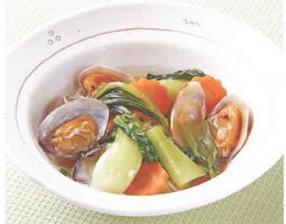青梗菜とあさりの炒め煮